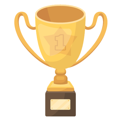 Engraved trophy icon