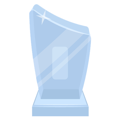 Glass trophy icon