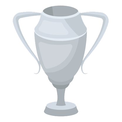 Silver trophy icon